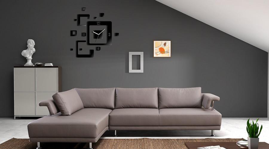 Nowoczesny zegar cienny trio du y 60cm kolory 5422904377 - Moderne couchgarnituren ...